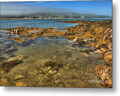 Isle Au Haut Beach Metal Print by Adam Jewell