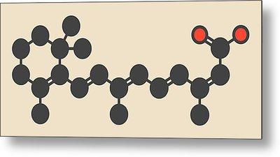 Isotretinoin Acne Treatment Drug Molecule Metal Print by Molekuul
