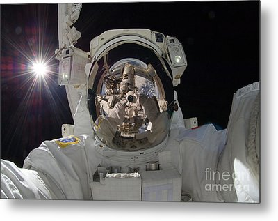 Iss Expedition 32 Spacewalk Metal Print by Nasa Jsc