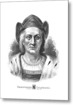 Italian Explorer Christopher Columbus Metal Print by War Is Hell Store