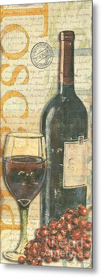 Italian Wine And Grapes Metal Print by Debbie DeWitt
