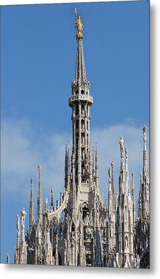 The Spire Of Milan Cathedral Metal Print by Francesco Croce