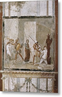 Italy. Pompeii. House Of Menander. 1st Metal Print by Everett