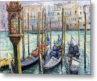 Italy Venice Lamp Metal Print by Yuriy Shevchuk
