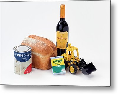 Items Containing Organic Compounds Metal Print by Trevor Clifford Photography
