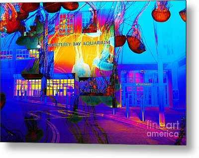 Its Raining Jelly Fish At The Monterey Bay Aquarium 5d25177 Metal Print by Wingsdomain Art and Photography