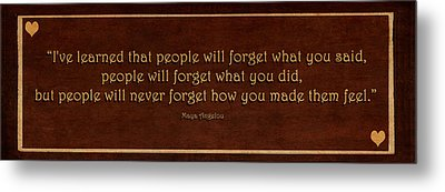 I've Learned  Metal Print by Maria Angelica Maira