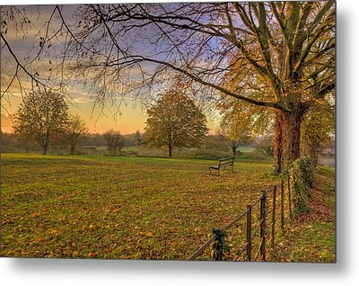 Ivinghoe Autumn Village Sunset Metal Print by David Dwight