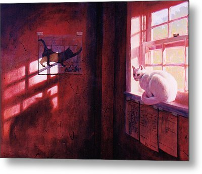 Ivory's Shadow Metal Print by Blue Sky