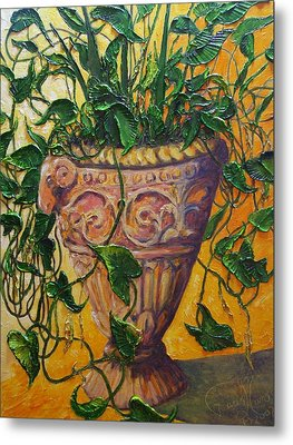 Ivy And Other Greens Metal Print by Paris Wyatt Llanso