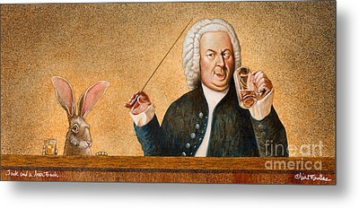 Jack And A Beer Bach... Metal Print by Will Bullas