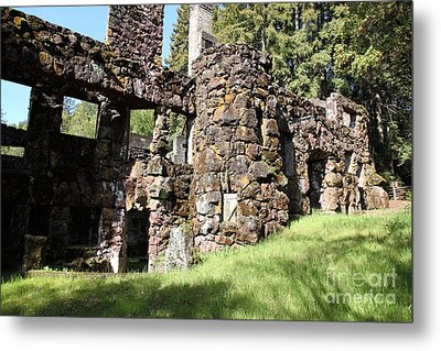 Jack London Wolf House 5d22014 Metal Print by Wingsdomain Art and Photography