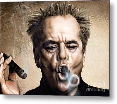 Jack Nicholson Metal Print by Andrzej Szczerski