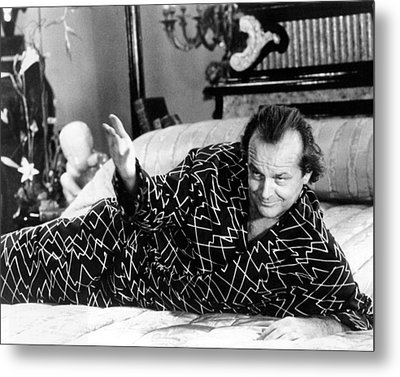 Jack Nicholson In The Witches Of Eastwick  Metal Print by Silver Screen