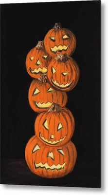 Jack-o-lantern Metal Print by Anastasiya Malakhova