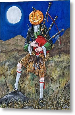 Jack O Piper Metal Print by Beth Clark-McDonal