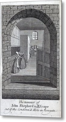 Jack Sheppard Escaping Metal Print by British Library