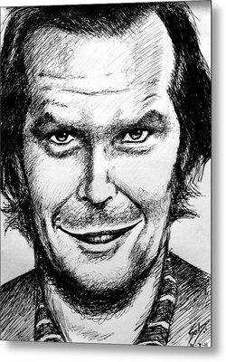 Jack Nicholson #2 Metal Print by Salman Ravish