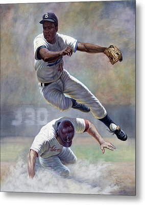 Jackie Robinson Metal Print by Gregory Perillo