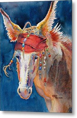 Jack Burro -  Donkey Metal Print by Deb  Harclerode