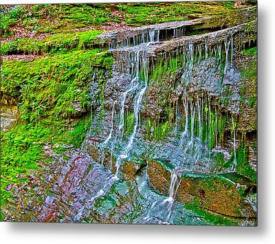 Jackson Falls At Mile 405 Natchez Trace Parkway-tennessee Metal Print by Ruth Hager