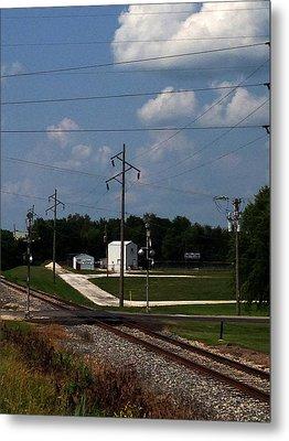Jacksonville Il Rail Crossing 1 Metal Print by Jeff Iverson