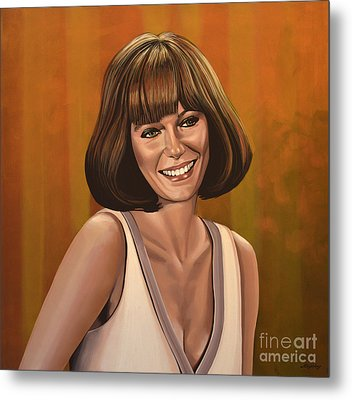 Jacqueline Bisset Painting Metal Print by Paul Meijering