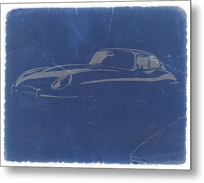 Jaguar E Type Metal Print by Naxart Studio