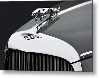 Jaguar Mk Ix Hood Metal Print by Susan Candelario