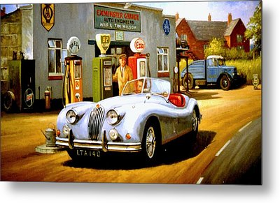 Jaguar Xk 140 Metal Print by Mike  Jeffries