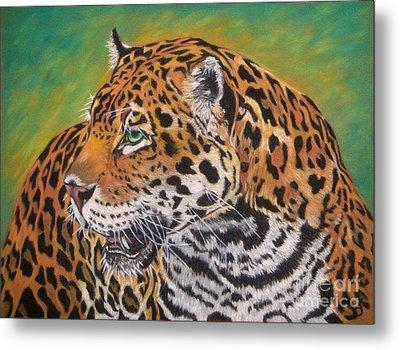 Jaguar Metal Print by Yvonne Johnstone