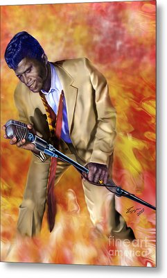 James Brown And His Famous Flames Metal Print by Reggie Duffie