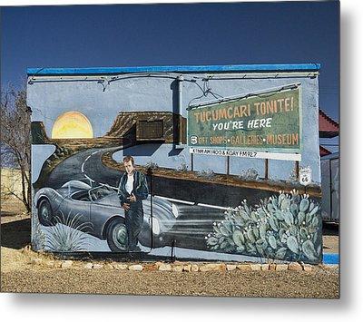 James Dean Mural In Tucumcari On Route 66 Metal Print by Carol Leigh