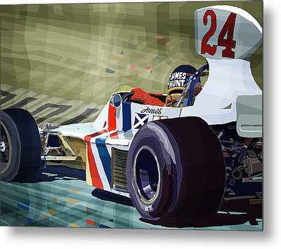 James Hunt 1975 Hesketh 308b Metal Print by Yuriy Shevchuk