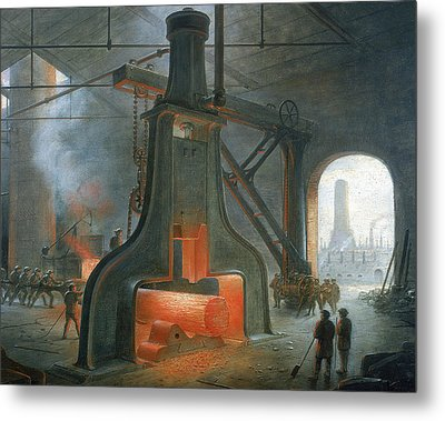 James Nasmyth's Steam Hammer Metal Print by James Nasmyth