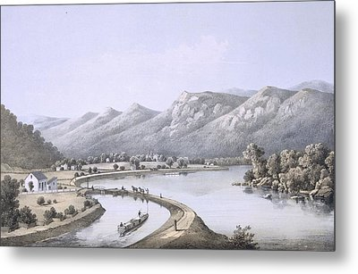 James River Canal Near The Mouth Metal Print by Edward Beyer