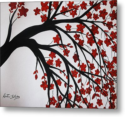 Japanese Cherry Blossoms Metal Print by Katie Slaby