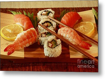 Japanese Cuisine Metal Print by Inspired Nature Photography Fine Art Photography