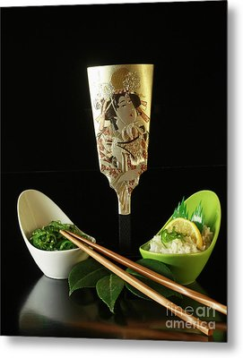 Japanese Fine Dining Metal Print by Inspired Nature Photography Fine Art Photography