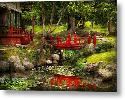 Japanese Garden - Meditation Metal Print by Mike Savad