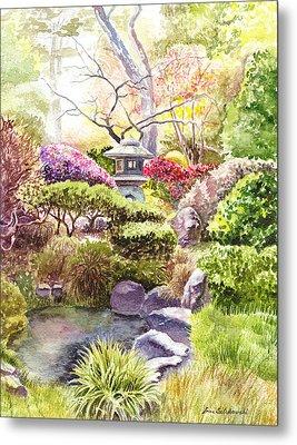 San Francisco Golden Gate Park Japanese Tea Garden  Metal Print by Irina Sztukowski