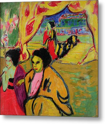 Japanese Theatre, 1909 Oil On Canvas Metal Print by Ernst Ludwig Kirchner