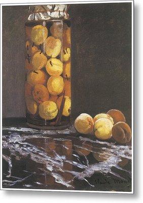 Jar Of Peaches Metal Print by Claude Monet