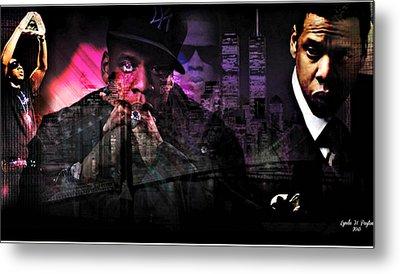 Jay Z Metal Print by Lynda Payton