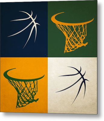 Jazz Ball And Hoops Metal Print by Joe Hamilton