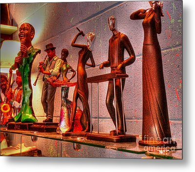 Jazz Band Metal Print by David Bearden