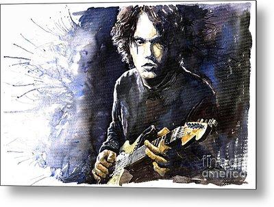 Jazz Rock John Mayer 03  Metal Print by Yuriy  Shevchuk