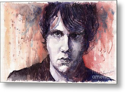 Jazz Rock John Mayer Metal Print by Yuriy  Shevchuk