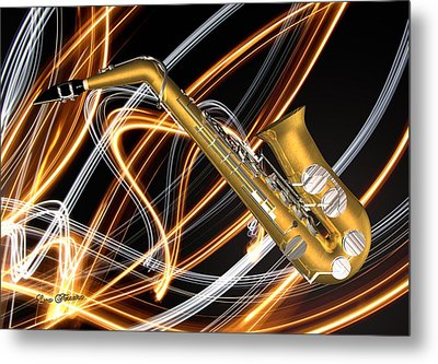 Jazz Saxaphone  Metal Print by Louis Ferreira