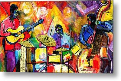 Jazz Trio Metal Print by Everett Spruill